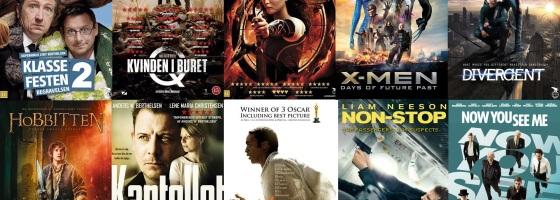 De 10 Mest Sete Film på Film2Home 2014